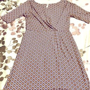 Gilli USA patterned 3/4 sleeve Dress sz med